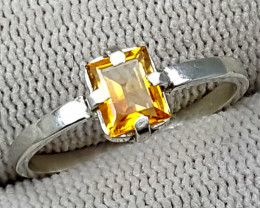 925 Silver Madeira Citrine Ring 7.60 Carats 8mm