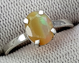 925 Silver Fire Opal Ring 7.95 Carats 8 mm