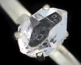 7 RING SIZE HERKIMER DIAMOND NATURAL-SILVER [SJ4640]