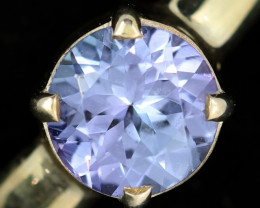 8.5 RING SIZE TANZANITE SILVER RING [SJ4684]