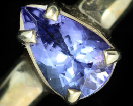 9 RING SIZE TANZANITE SILVER RING [SJ4681]