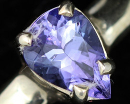 8 RING SIZE TANZANITE SILVER RING [SJ4690]