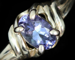 7 RING SIZE TANZANITE SILVER RING [SJ4688]