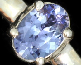 8.5 RING SIZE TANZANITE SILVER RING [SJ4673]