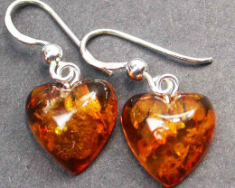 BALTIC AMBER EARRINGS SILVER 7.20 CTS [SJ1416]