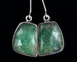 20.70 CTS NATURAL EMERALD EARRINGS -FACTORY DIRECT [SJ4721]