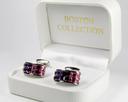 COLOURFUL MENS CUFFLINKS IN GIFT BOX AAT 1704