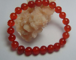 Beautiful Red Carnelian Beats 8 mm Round
