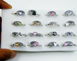 RESELLERS TRAY OF 16 HEART RINGS @ $2.50 PER RING AAT 308