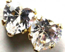 GOLD 14KT CUBIC ZIRCONIA GOLD EARRINGS 2.50 CTS GTJA359