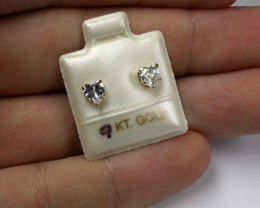 GOLD 9KT CUBIC ZIRCONIA GOLD EARRINGS 3.30 CTS GTJA356