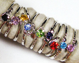 RESELLERS DEAL 100 MAN MADE GEMSTONE RINGS AAT 817