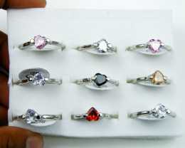 RESELLERS TRAY OF 9 HEART RINGS AAT307