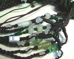JADE NECKLACE PARCEL [5] -ADJUSTABLE 54.00 CTS [GT815 ]