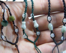 JADE NECKLACE PARCEL [3] -ADJUSTABLE 78.00 CTS [GT784 ]