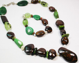 1170.95 CTS CHUNKY BOULDER AND GEMSTONE NECKLACE SJ2007
