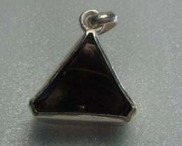 brown quartz ~ pendent ~ hand craft designs silvers 45.50 cts