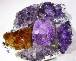 AMETHYST AND CITRINE PENDANT [SJ2976 ] TOTAL WEIGHT 110 CTS