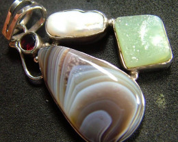 STUNNING AGATE PENDANT 61.95 CTS [GT833 ]