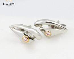 AUSSIE PINK DIAMONDS IN 18K WHITE GOLD EARRINGS LGN 825