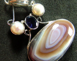 STUNNING AGATE PENDANT 72.00 CTS [GT817 ]