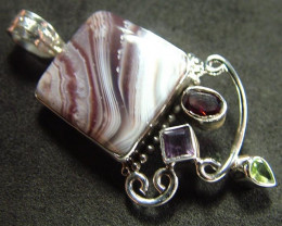 STUNNING AGATE PENDANT 67.00 CTS [GT815 ]
