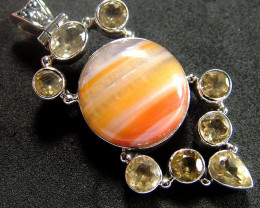 STUNNING AGATE PENDANT 90.00 CTS [GT814 ]