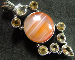 STUNNING AGATE PENDANT 97.00 CTS [GT813 ]