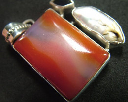 STUNNING AGATE PENDANT 70.00 CTS [GT810 ]