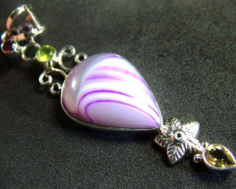 STUNNING LARGE AGATE PENDANT 58.00 CTS. [GT799]