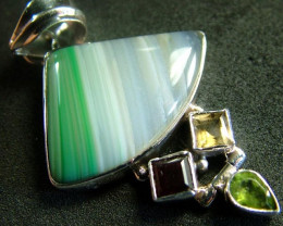 STUNNING LARGE AGATE PENDANT 58.00 CTS. [GT794]