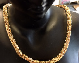 84 Grams 9 K GOLD CHAIN BYZANTINE 84 GRAMS L 428