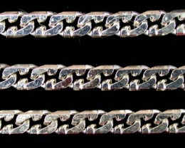 29.2 grams 18K WHITE GOLD CHAIN CURB, 58 CM LONG 29.2 GRAMS L329