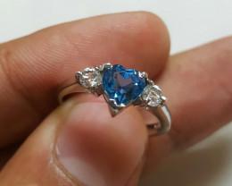 Natural Blue Topaz Rings