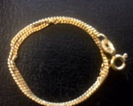 One gram 9k gold  bracelet italian made 17cm length L 336