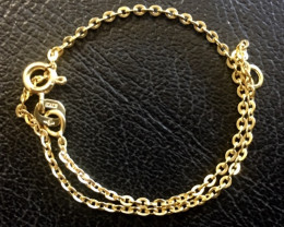 just under One gram 9k gold  bracelet italian made 17cm length L503