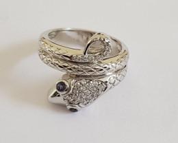 Snake 925 Sterling silver ring #9537