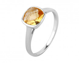 Citrine 925 Sterling silver ring #644