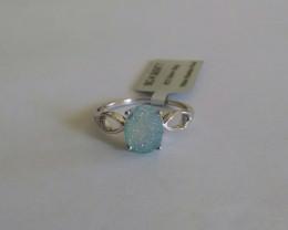 Druzy 925 Sterling silver ring #547