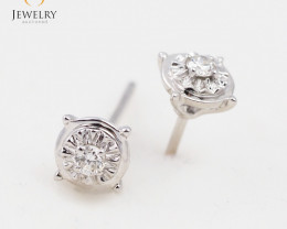 18 K White Gold Diamond earrings  E11352