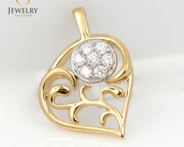 18 K  Cute Gold Diamond Pendant P11677