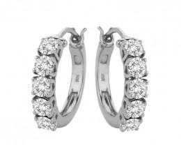 Swarovski 925 Sterling silver hoops earring #7802