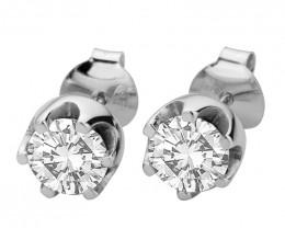 Swarovski 925 Sterling silver studs earring #7795