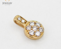 18 K Cute Gold Diamond Pendant P11681