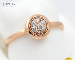 Stylish Modern 18 K Rose Gold Diamond Ring size 7 R11622
