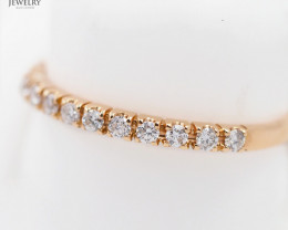 Stylish Modern 18 K Rose Gold Diamond Ring size 7 R7498