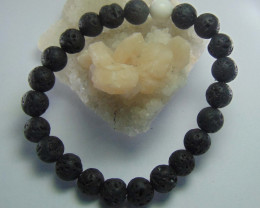 Lava and Howlite Stone 8 mm bracelet 81.20 cts