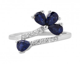 Iolite 925 sterling silver ring #494