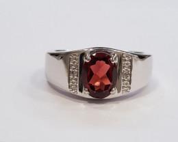 Garnet 925 Sterling silver ring #699
