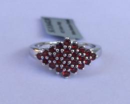 Garnet 925 Sterling silver ring #442